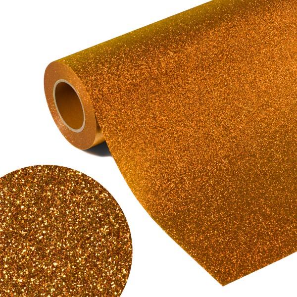 Folia GLITTER FLEX FLGU 49 - ORANGE GOLD