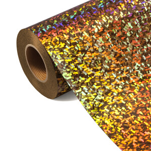 Folia HOLOGRAPHIC FLEX FLHO 200-S - CRYSTAL GOLD